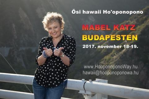 HO'OPONOPONO BUDAPESTEN! Mabel Katz író, békenagykövet, Ho'oponopono-szakértő, szónok 9. alkalommal lesz a vendégünk, hogy megtartsa kétnapos tréningjét. Jelentkezz addig, amíg van hely és amíg kedvezményt adunk a részvételi díjból. http://hooponoponoway.hu/ujrabudapest Ifo: hawaii@hooponoponoway.hu