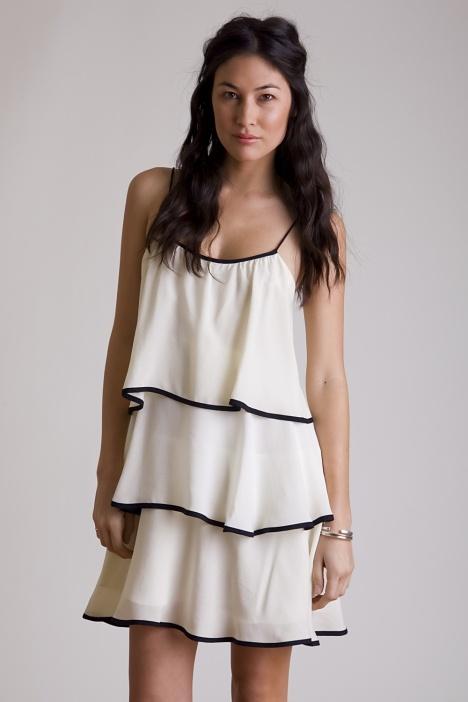Quail  Ivory Tiered Dress: Quails Ivory, Quails Bw, Dresses Skirts, Flappers Styl Dresses, Quails Marketplac, Dresses 58, Cc Dresses, Quails B W, Quails Clothing Sad