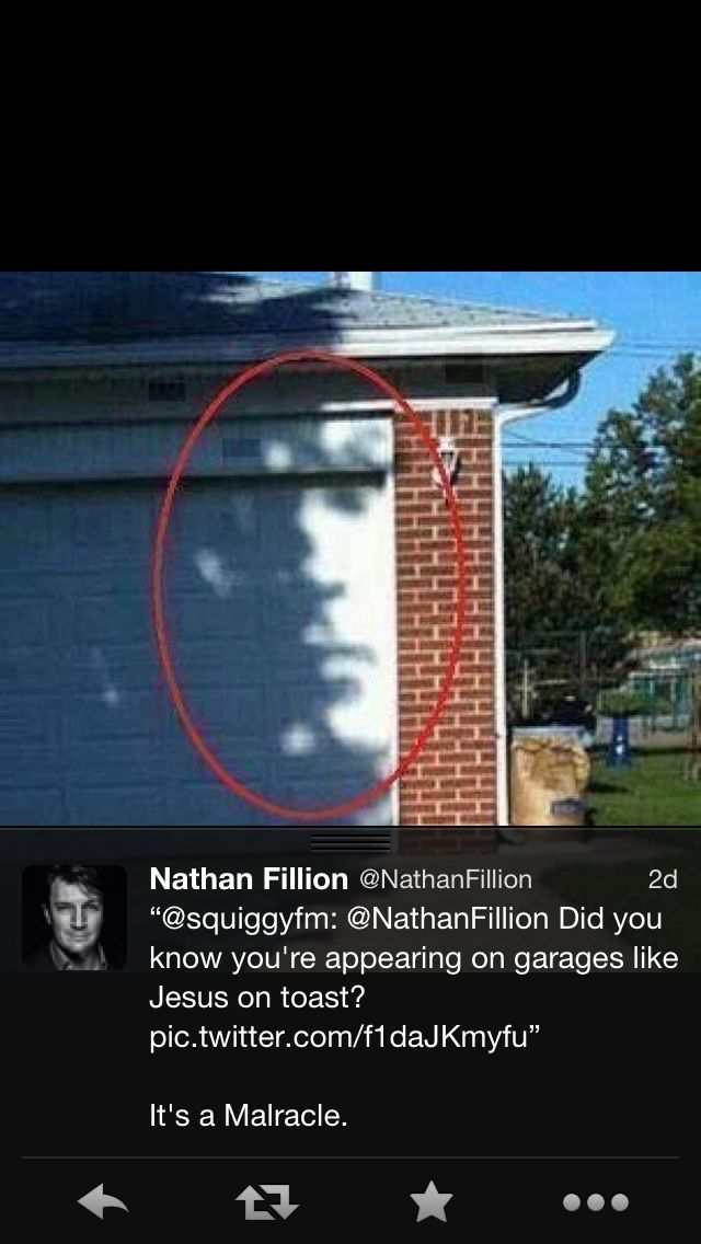 Did you know you're appearing on garages like Jesus on toast?