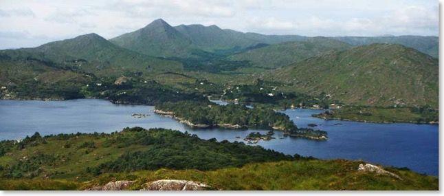 Garinish Island, Glengarriff, County Cork, with Sugarloaf Mountain