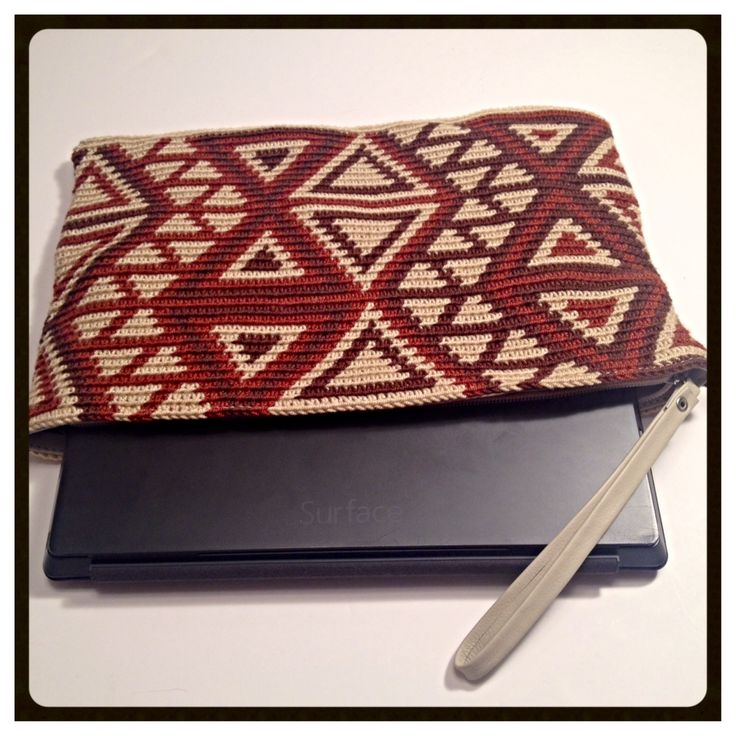 #Brown Wayuu Clutch