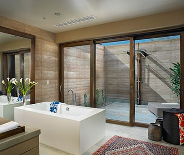 Coolest Outdoor Hotel Showers: Miraval, Tuscon, AZ