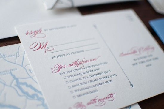 Oh So Beautiful Paper: Samantha + William's Illustrated Map Destination Wedding Invitations