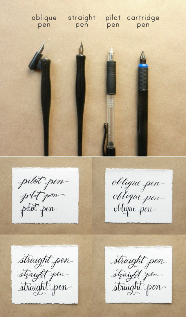 Calligraphy pen comparisons pens and
