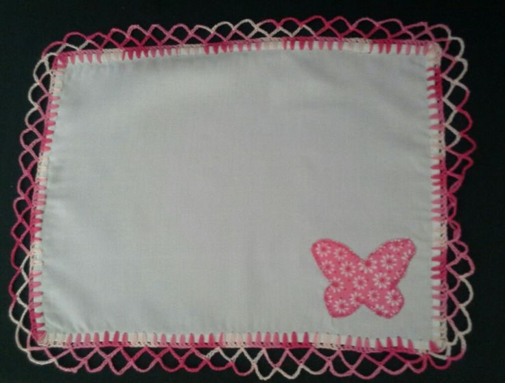 Carpeta en  tela con  aplique y  crochet  creada  por  Tiernos  Encantos.