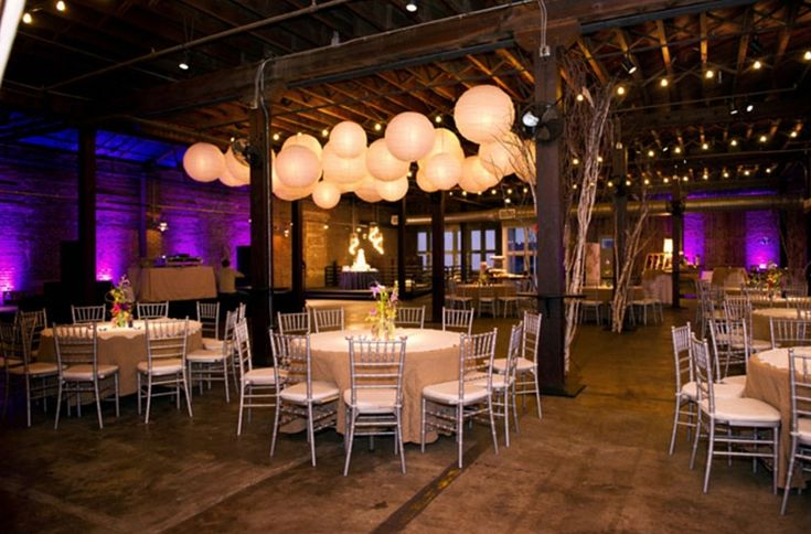 warehouse wedding decor wedding lighting ideas wedding photo adam alli 8365