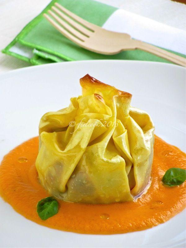 FeelCook cucina per passione: Fagottino di lasagna con melanzane e scamorza