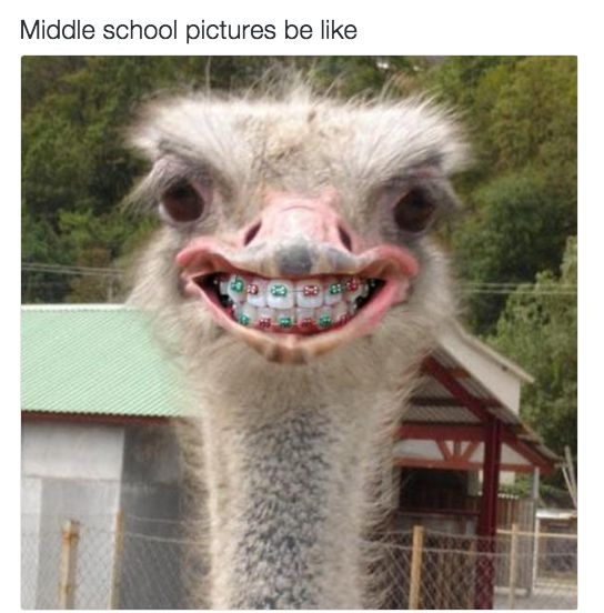 Cringing at every picture of you from age 11 to 14: | 23 Things People With Perfect Teeth Will Never Understand