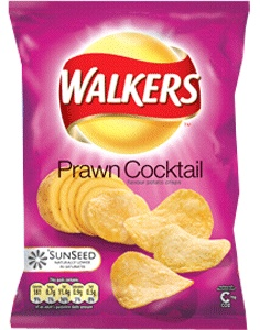 Walkers Ready Salted, Worcester Sauce and Prawn Cocktail flavoured crisps