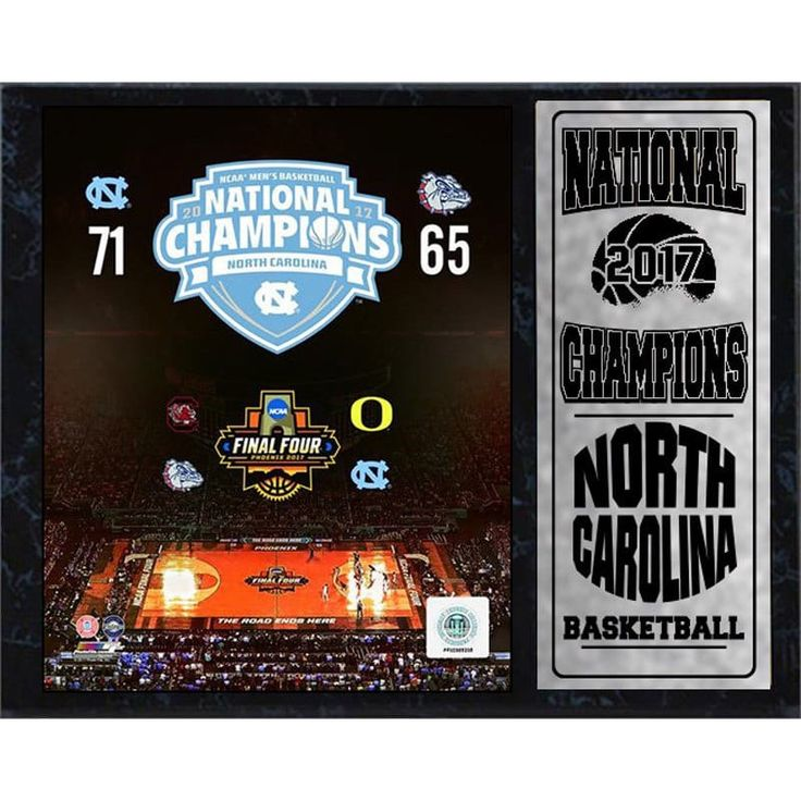 Encore Select 12x15 Plaque North Carolina Men's Basketball 2017 Championship