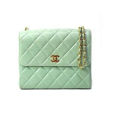 Mint Chanel purse