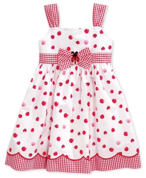 Boulevard Blueberri Little Girls Lady Bug Sundress | Frock, Dress and Clothing