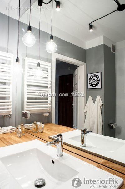 Scandinavian-style apartment Interior bathroom design pictures 2016