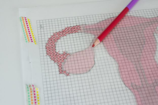 Or, just create your own pattern from a printed picture with coloring pencils, freezer paper, and graph paper! | 29 Ridiculously Helpful Tips For Anyone Who Wants To Learn How To Cross-Stitch
