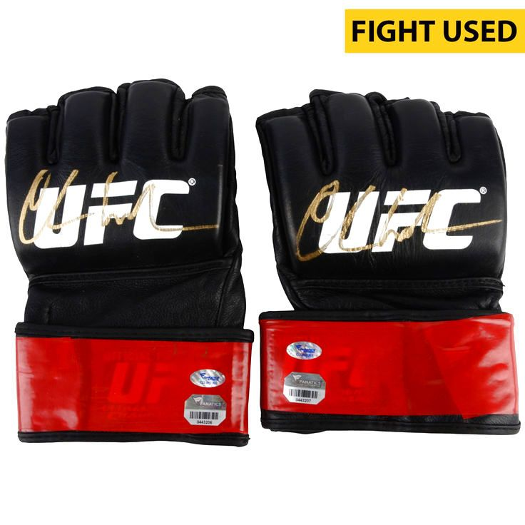 Chris Weidman Ultimate Fighting Championship Fanatics Authentic Autographed UFC 187 Fight-Worn Gloves - Defeated Vitor Belfort via 1st Round Knockout to Retain UFC Middleweight Championship - $19999.99