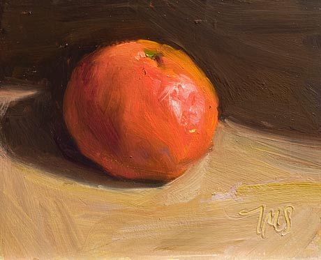 Daily painting of Clementine -- another beauty from Julian Merrow Smith