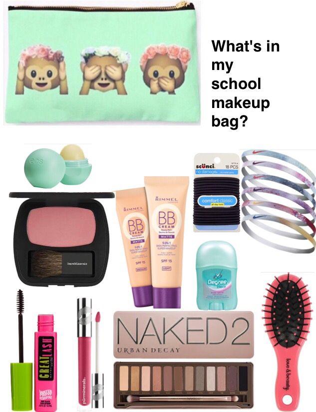 What's in my school makeup bag?