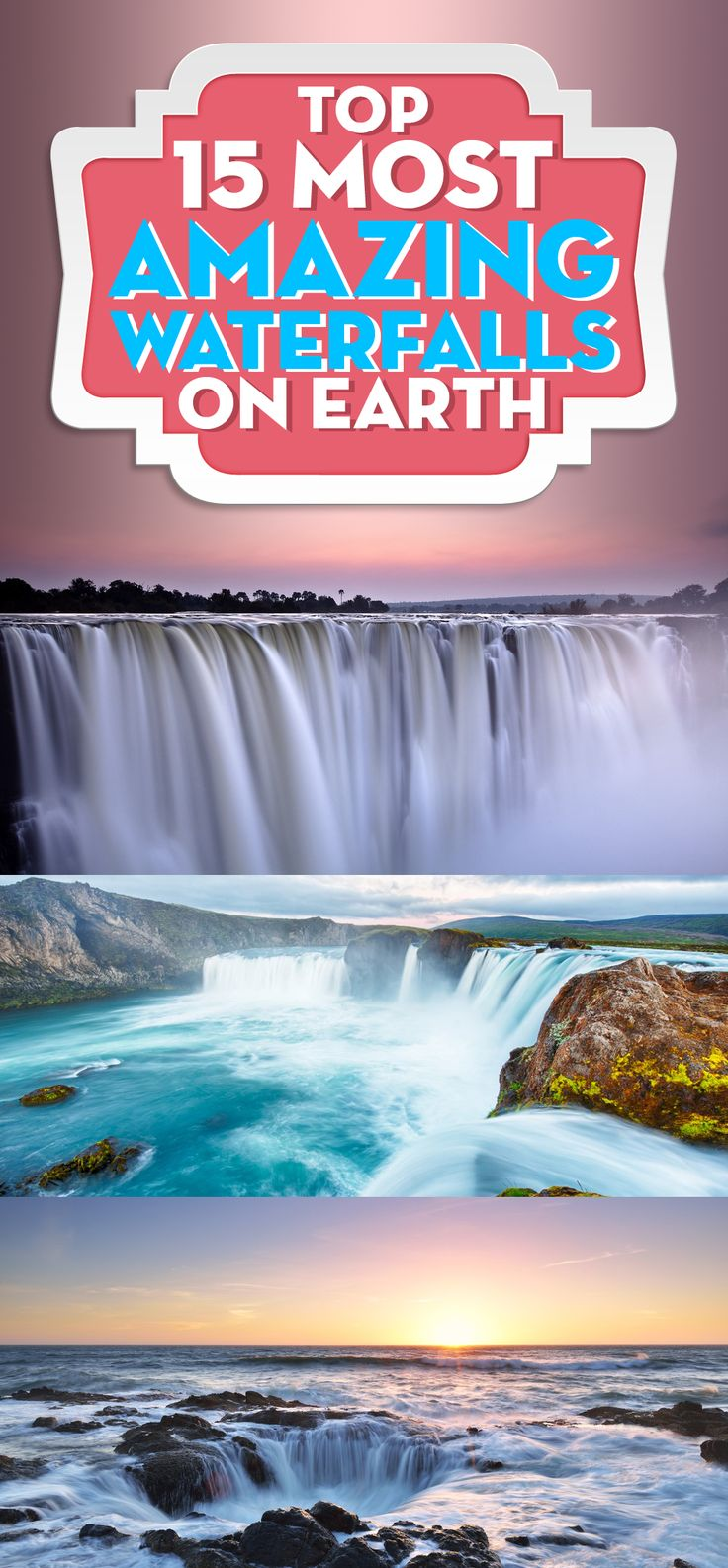 Most Amazing Waterfalls: Wow I love these waterfall photos! It's my dream to visit one of these places. I was going to publish just one as part of my travel desitnations post, but ended up making a whole post just on these waterfalls!