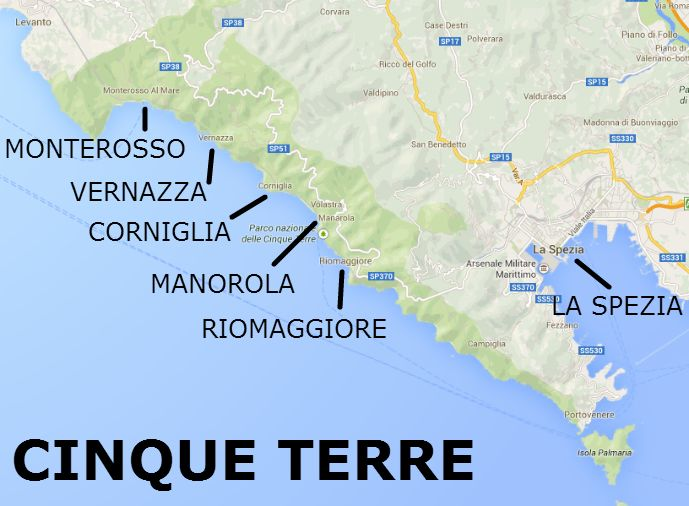 Cinque Terre Map - The Best of Italy by Train: A Two Week Itinerary - The Trusted Traveller