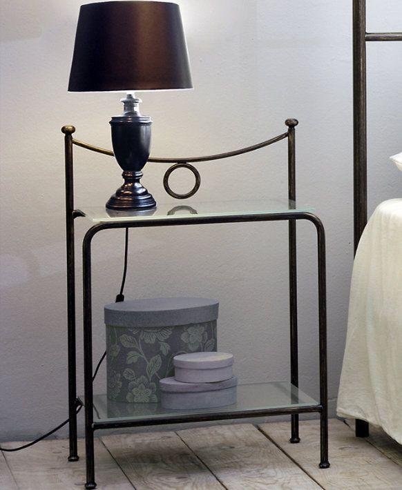 Seagull Bedside The simple design of this bedside makes it a good, minimalist piece to have in your room. The wrought iron frame is Cosatto's trademark. The resistance and lightness of this material makes the bedside a reliable and durable piece.