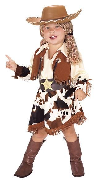 Cowgirl Halloween Costume Children Size Small