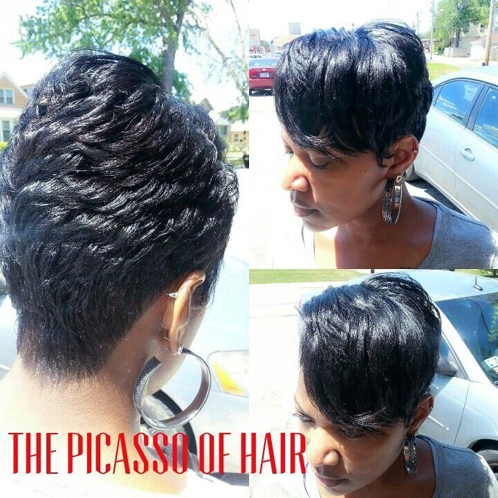 The Picasso of hair Chicago | Short sassy hair, Hair ...