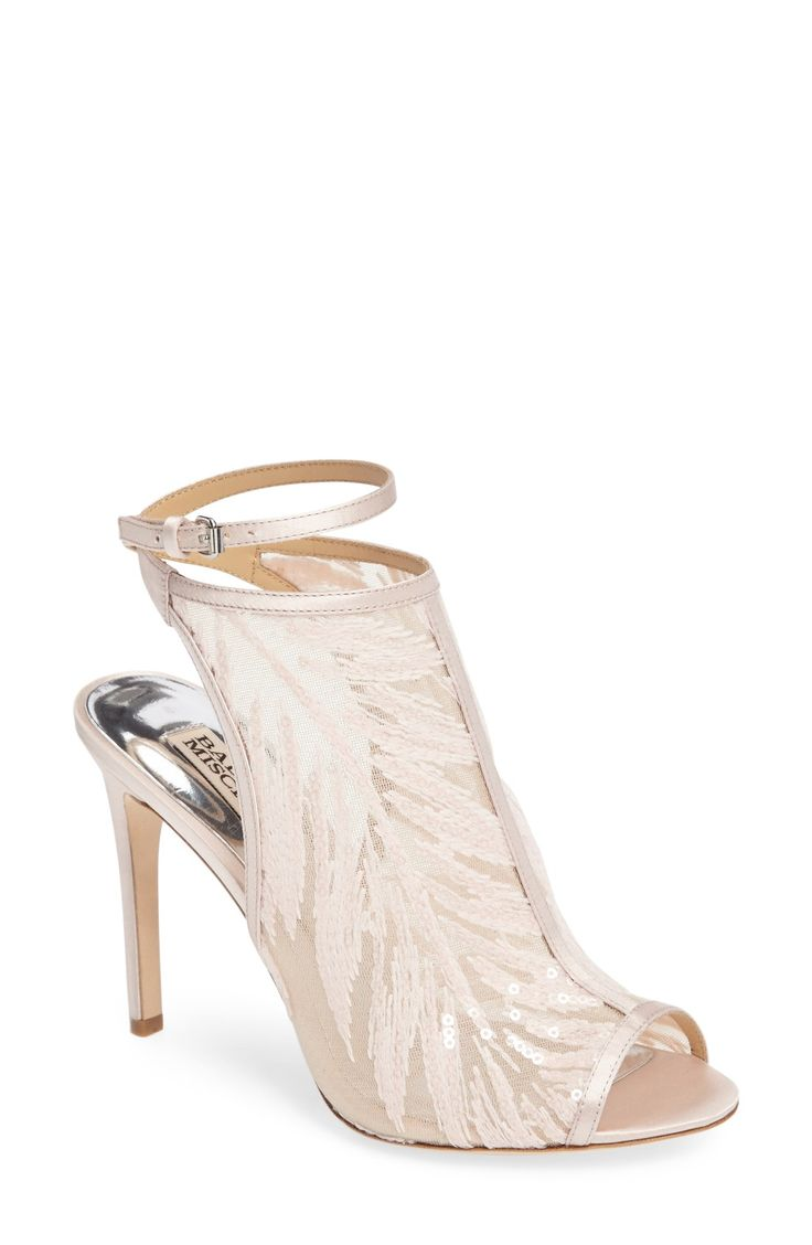 Blakely Sequin Illusion Sandal Badgley Mischka Wedding Shoes | affiliate
