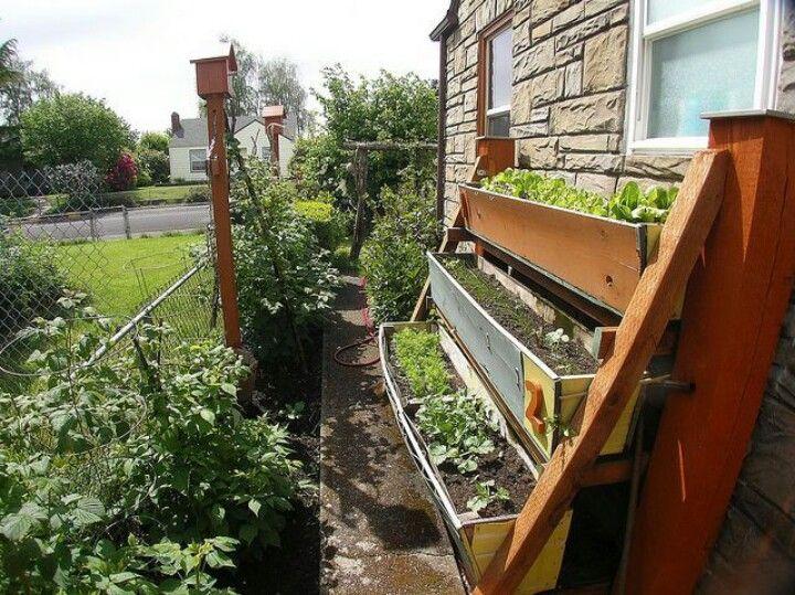 Vertical container gardening | Garden | Pinterest