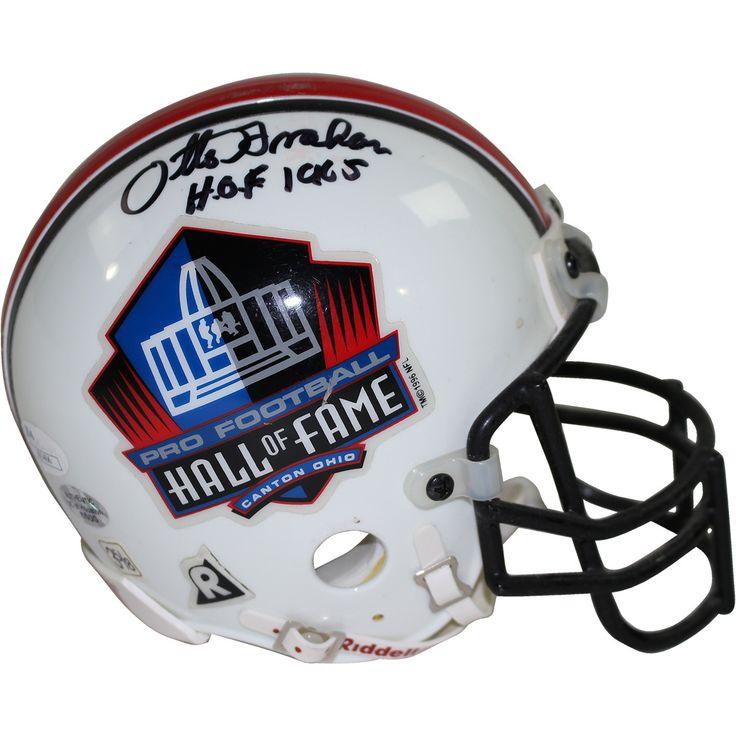 Otto Graham Signed Hall of Fame Mini Helmet w/ 'HOF 1965' Insc (JSA Auth)