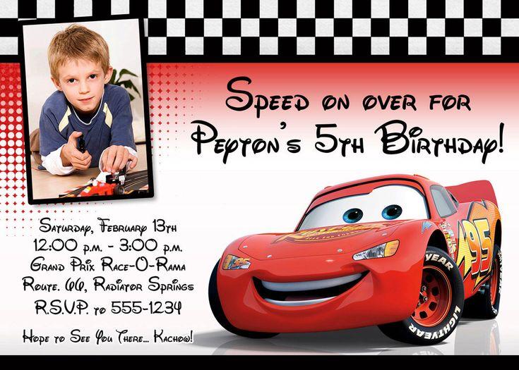 etsy.com Image detail for -Cars Lightning McQueen Custom Photo Birthday Invitation - Digital File