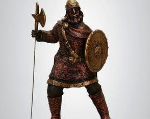 Guerreiro Viking Com Escudo - Escultura