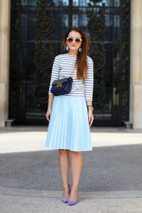 179 best How to Wear It: Pleated Midi Skirt images on ...