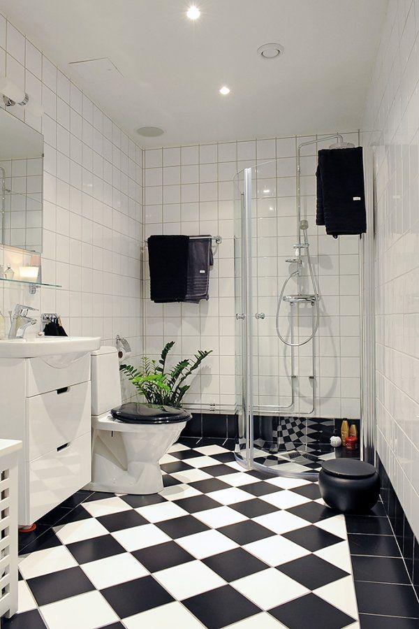 Homeinnovationsok Com Likes Black And White Tiles Floor All White Walls