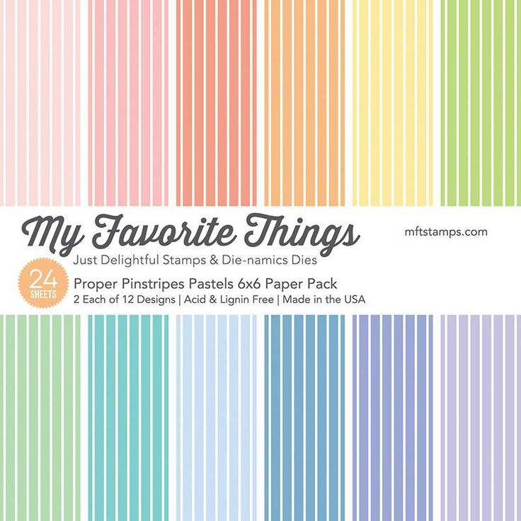 My Favorite Things design papier t.b.v. papier projecten zoals scrapbooking, kaarten maken of home deco. 24 Vellen, 12 verschillende designs, enkelzijdig bedruk