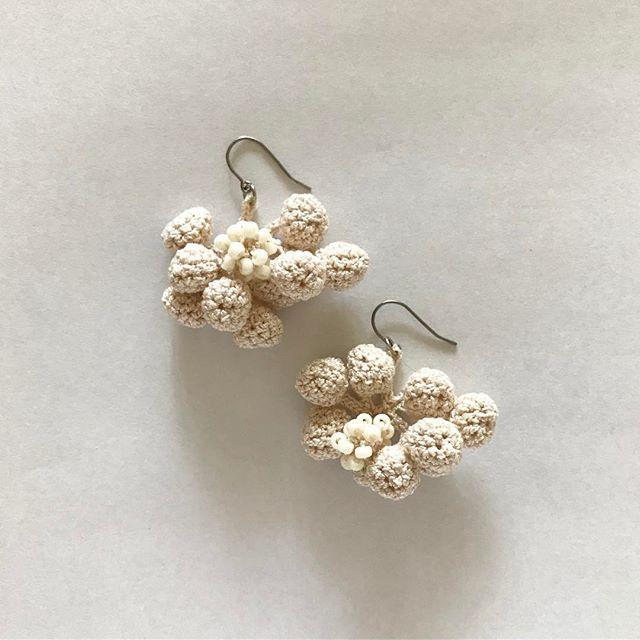 #コバヤシアケミ #かぎ針編み   #akkeweb #akke #akemikobayashi #jewelry #jewelrydesign #Crochte   #beadscrochet #piercedearring