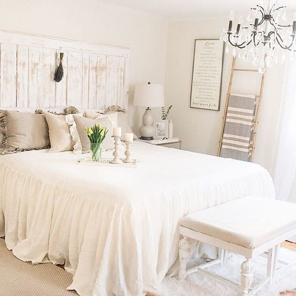 French Country Farmhouse Decor // Our Bedroom - Sparkling Footsteps