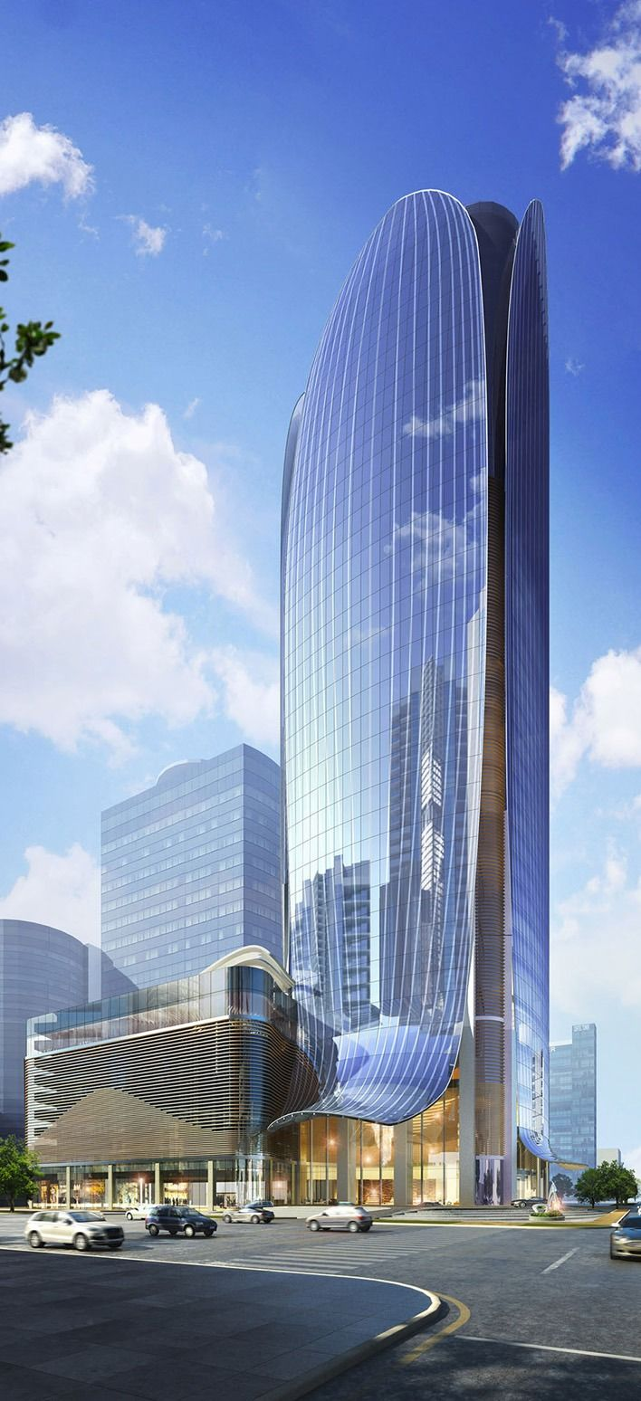 Lavenue Crown Hotel, Ho Chi Minh City by Atkins Architects :: height 166m
