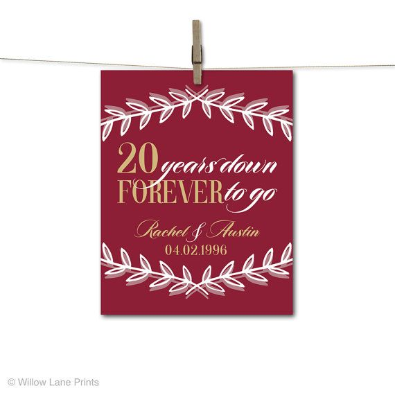 Wow your husband or wife with the perfect personalized 20th anniversary gift. This unique anniversary gift idea is the perfect gift for a thoughtful and memorable keepsake.