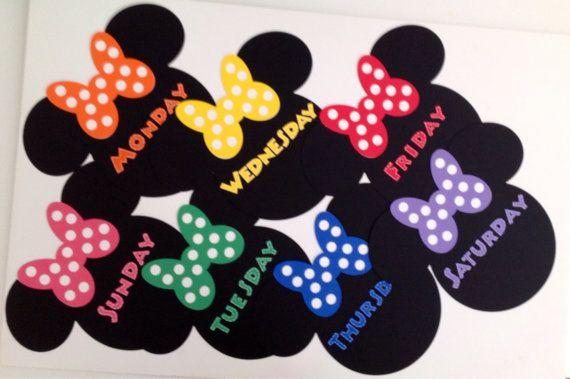 Preschool Kindergarten Classroom Mickey Minnie Mouse Days of the Week Chart