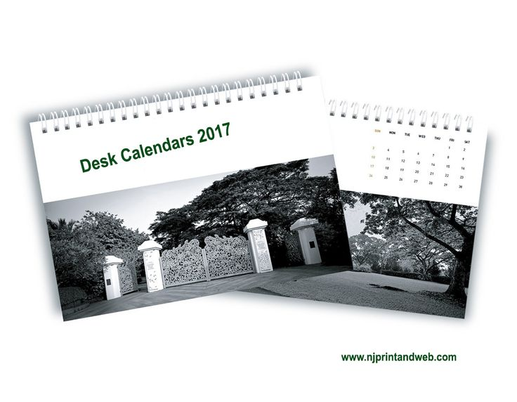 Use a calendar maker to make personalized desk calendars with your own photos for your home