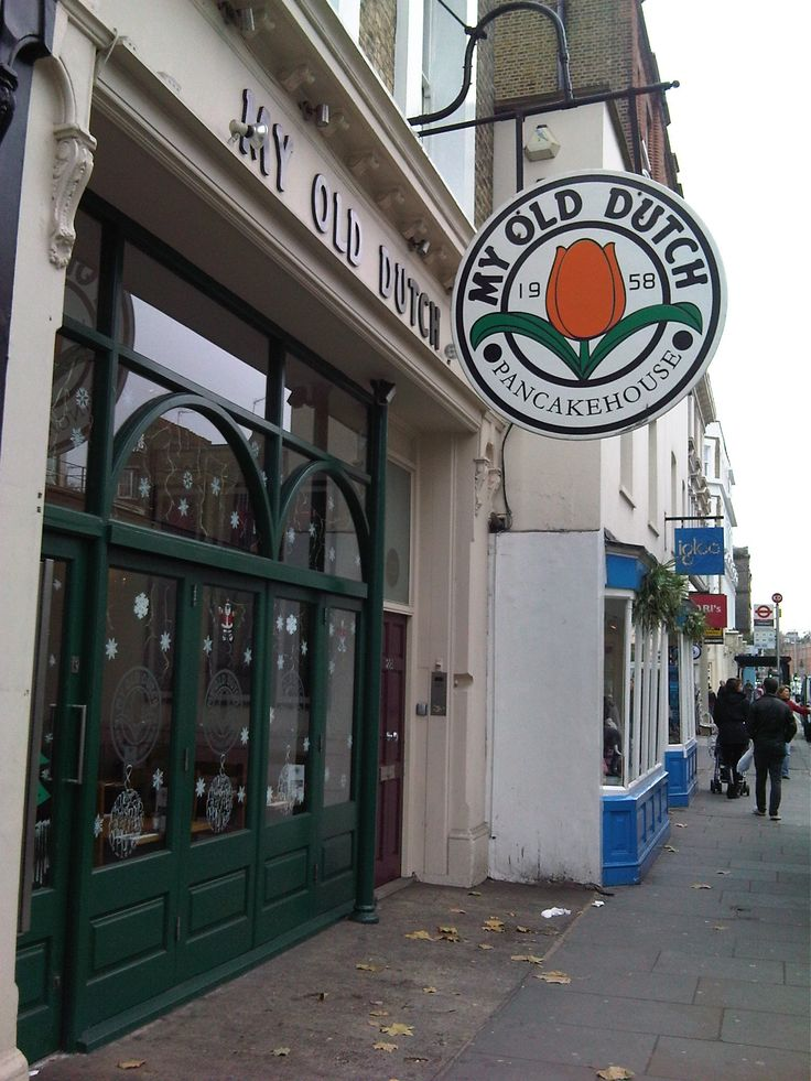 My Old Dutch pancake house in London. I have been wanting to go here for YEARS!  Finally, in a couple of weeks, I'll get my wish!
