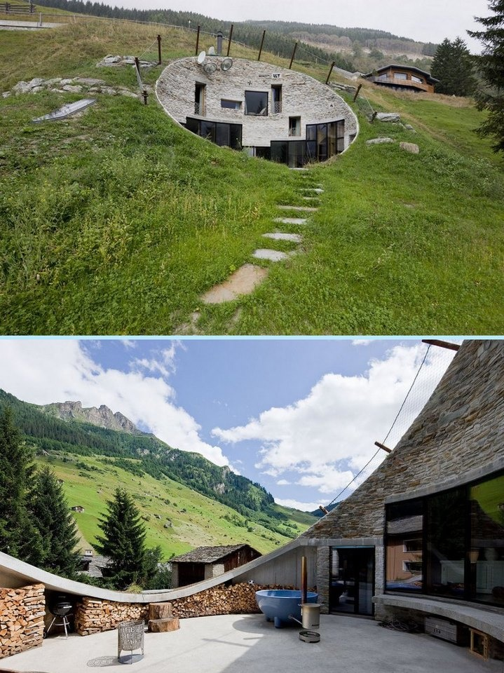 Love it! Underground living has some distinct advantages and this home makes the most of them. You'll find the full album of 23 images across on our site at http://theownerbuildernetwork.com.au/unusual-homes/underground-living-in-switzerland/