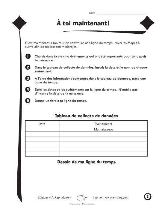 Un peu de tout Univers social 3 - Éditions de l'Envolée