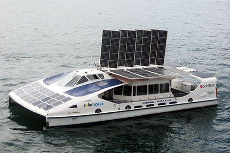 solar powered catamaran - Google Search