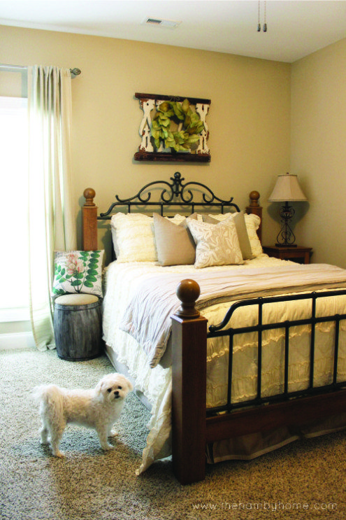 Neutral Rustic Traditional Bedroom Decor