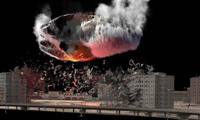 UFO destruction - breakdown | fx | Destruction, Ufo, Building