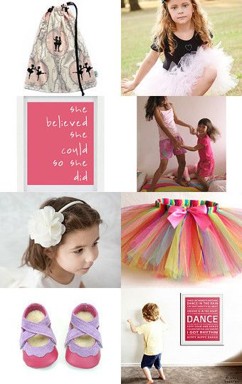 A very pretty treasury featuring our  drawstring ballet bag -  Born to Dance. By Sue Myers on Etsy.