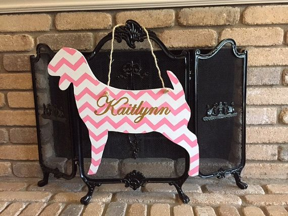 Show Goat Sign by BayouLaneCreations on Etsy #goat #ffa #livestock