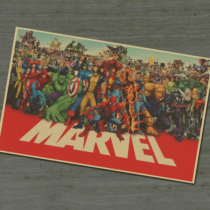 MARVEL super hero retro Movie Poster 42x30cm  $8.95 and FREE shipping  Get it here --> https://www.herouni.com/product/marvel-super-hero-retro-movie-poster-42x30cm/  #superhero #geek #geekculture #marvel #dccomics #superman #batman #spiderman #ironman #deadpool #memes