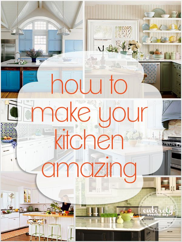 nice Diy Kitchen Decorating Projects #7: How To Make Your Kitchen Amazing! Easy tips and tricks.  entirelyeventfulday.com #